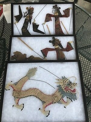 5 - Shadow/Puppet, Theatre Figures, Made In China Around 1900 In Shadow Puppet