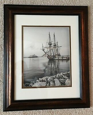 Cape May - Lewes Ferry and Kalmar Nyckel Framed Photograph