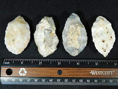 Lot of FOUR 55,000 to 12,000 Year Old Early Man Lithic Aterian Arifacts! 101gr