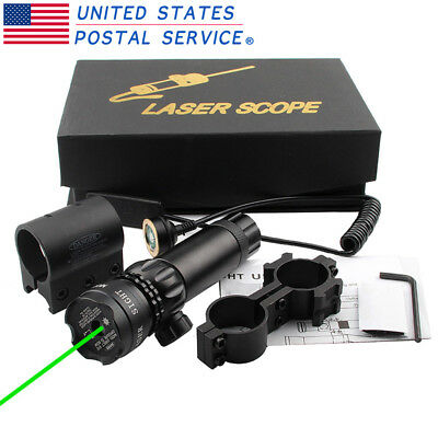 Tactical Green Dot Laser Sight Hunting 20mm Rail Picatinny Mount Remote Switch