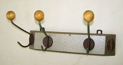 Long, Hooks Hook bar Wood Decor Iconic Retro