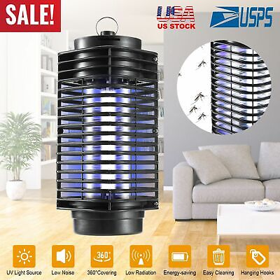Led Electric Mosquito Fly Bug Insect Zapper Killer Trap Pest Control Indoor Lamp