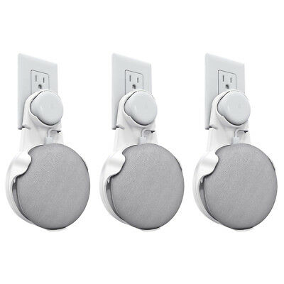 3 Pack Fintie Outlet Wall Mount For Google Home Mini Hanger Holder Stand White