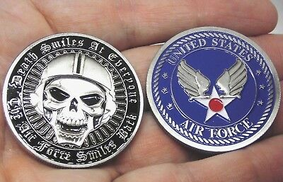 US Air Force Challenge Coin USAF Collectible Coin Death smiles at everyone coin