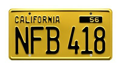 Psycho | Norman Bates | NFB 418 | Metal Stamped Replica Prop License Plate