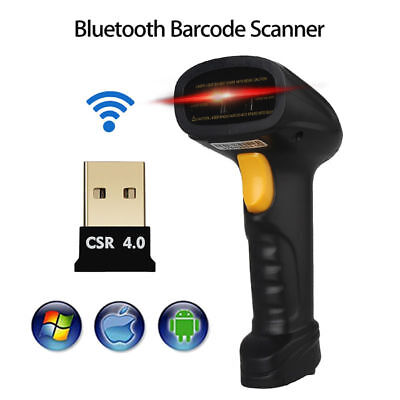 Wireless Bluetooth Barcode Scanner Reader For Android HTC iOS Wins iPhone 7 iPad