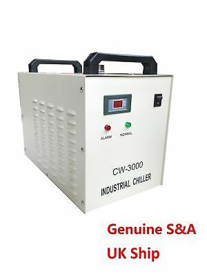 S&A Genuine CW-3000 AG 220V Water Chiller Cool 50W 60W 80W CO2 Laser Tube UK
