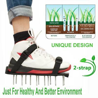 Pair Green Garden Lawn Aerator Spikes Aerating Shoes Garden Lawn Care Tools Use