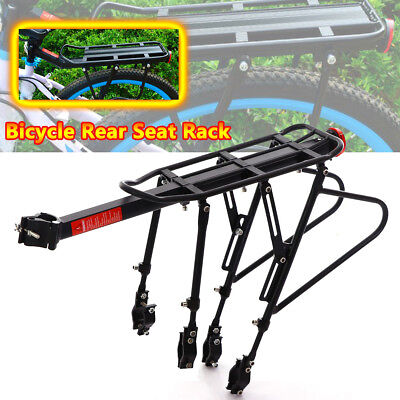Bicycle Outdoor MTB Mountain Bike Black Rear Pannier Carrier Rack Seat Post 50KG