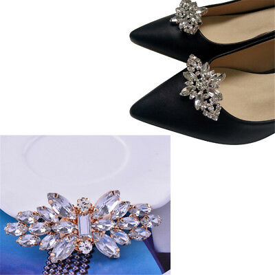 1PC Women Shoes Decoration Clips Crystal Shoes Buckle Bridal Wedding Decor _DE