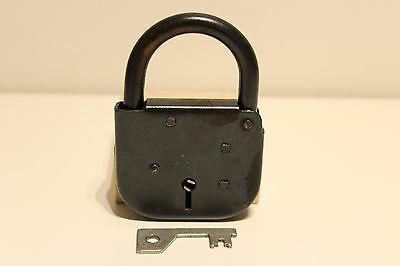 Vintage Rare Large Solid Metal Bulgaria Or Ussr Russia  Padlock With Key