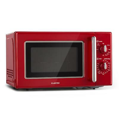 Klarstein Retro Mikrowelle 700 W Grill 1000 W Microwave 20l Timer Edelstahl rot