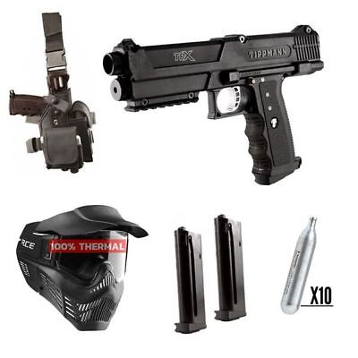 Paintball Set Tippmann TiPX Deluxe Pistol Kit, inkl. 10x CO2 + Thermal Maske