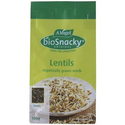 Vogel Biosnacky Organic Ungerminated Lentil Sprouts Seeds Seed Sprouting 100g