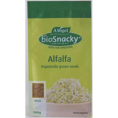 Vogel Biosnacky Organic Grown Alfalfa Sprouting Sprouter Sprouts Seeds Seed 100g