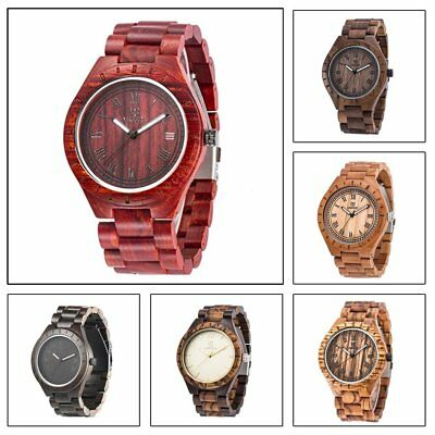 UWOOD Wooden Watch Elegant Men Watch Luminous Japanese Movement Quartz Watch ~~
