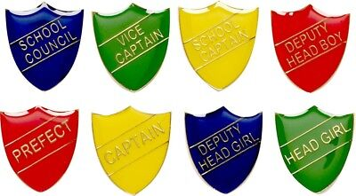 School Themed Badges in Red, Yellow, Green or Blue