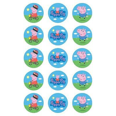 Peppa Pig Edible Cupcake Icing Decoration Toppers