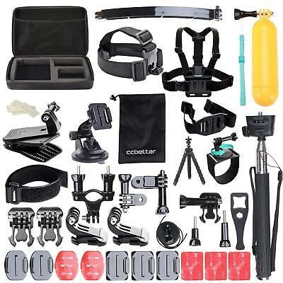 50Pcs Action Camera Accessories Kit Set For GoPro Hero Video Cam Mount Tripod UK