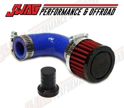 SWAG CRANKCASE VENTILATION Open Breather Kit For 2007-2017 6 7L Cummins -  Blue