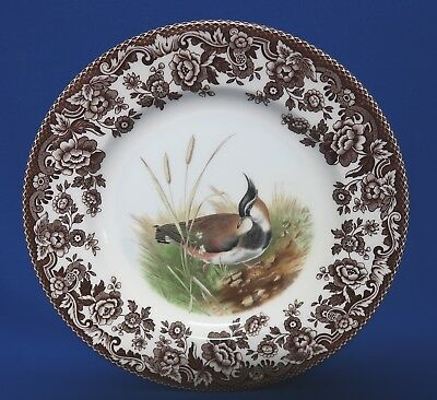 "Spode 7 3/4"" Salad Plate LAPWING WOODLAND MADE IN ENGLAND"