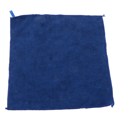 Blue Car Kitchen Cleaning Detailing Microfiber Polish Cloths Towels 29x29cm
