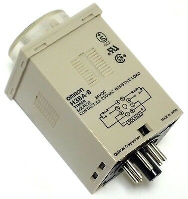 OMRON H3BA SOLID STATE TIMER 0.05 S to 100 H 10 VA 1W DIN SIZED 48 x 48 x 75 MM