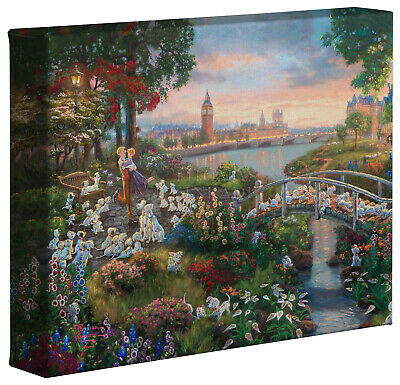 Thomas Kinkade Studios Disney 101 Dalmations 8 x 10 Gallery Wrapped Canvas