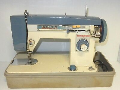 Vintage White 35186 Hd Zigzag Stitcher Sewing Machine W/ Pedal Control & Case