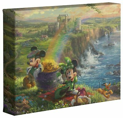 Thomas Kinkade Studios Mickey and Minnie In Ireland 8 x 10 Canvas Gallery Wrap