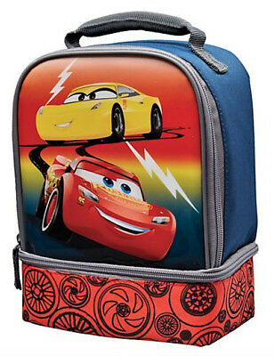 DISNEY CARS 3 AMERICAN TOURISTER Lead-Free Dual-Chamber Insulated Lunch Box Tote