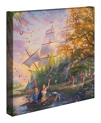 Thomas Kinkade Studios Disneys Pocahontas 14 x 14 Wrapped Canvas