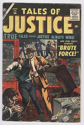 Tales Of Justice Comic #66 (1957) GD Atlas Silver Age Crime Marvel
