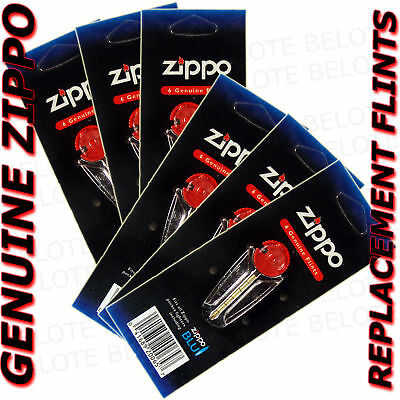 Genuine Zippo Replacement Flint 2406N 6 Packs 36 Flints FREE SHIPPING NEW