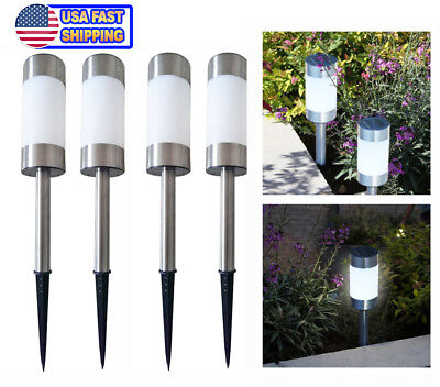 Solar LED Pathway Ourdoor Lights Stainless Steel & Waterproof Law Patio Driveway