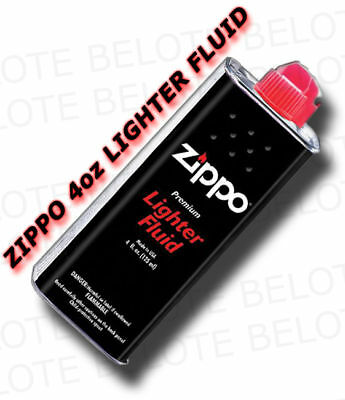 Genuine Zippo 4 oz.118ml Lighter Fluid Fuel 3341 FREE SHIPPING NEW