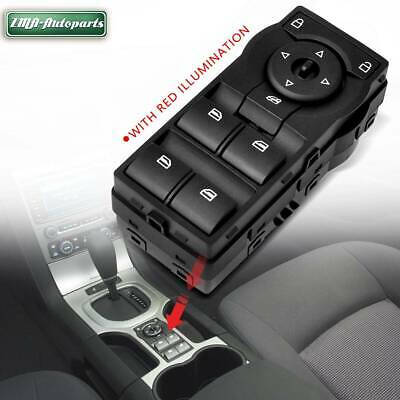 Black Power Master Window Switch for Holden Commodore VE With Red Illumination