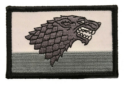 Game of Thrones House Stark Morale Hook Fastener Patch (3.0 X 2.0)