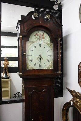 PRETTY ANTIQUE 30hr LONGCASE CLOCK BY LEES of BURY LANCS. NICE WORKING ORDER
