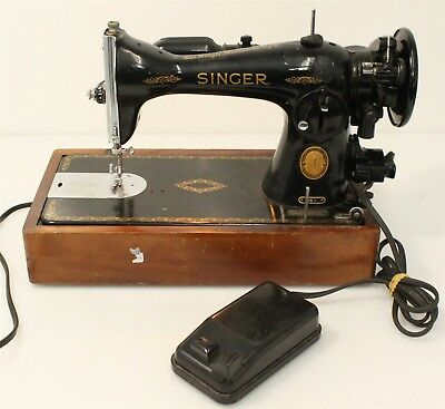 40 SINGER SEWING Machine Model 40 W Foot Pedal Tested Works Custom Singer Sewing Machine Model 15