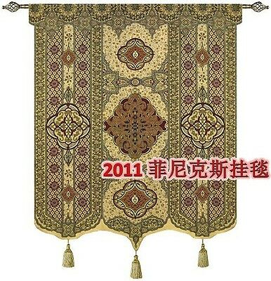 """Beautiful Moroccan large fine gold TAPESTRY WOVEN MADE WALL HANGING 67.7""""x52"""""""