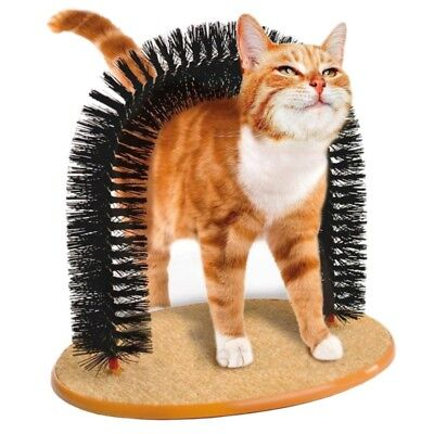 Pet Cat Puppy Self-Groomer Massage Scratching Bristles Toys Grooming Brush Toy