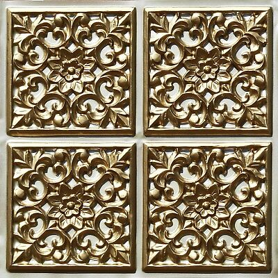 # 109 (Lot of 5)  PVC Faux Tin Decorative Ceiling Tile Panels (Glue-Up Only)