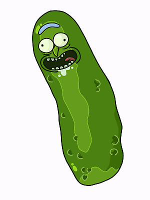 RICK AND MORTY PICKLE RICK sticker 200x88mm