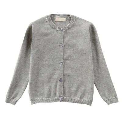 Baby Kids Boy Girl Autumn Winter Cotton Knit Sweater Outwear Cardigan Coat Top