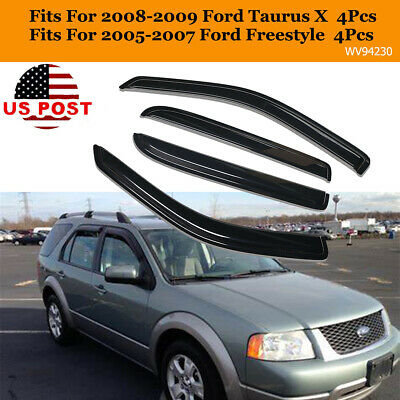 Rain Guards Visor 4pcs Out-Channel Deflector Ford Freestyle 2005 2006 2007
