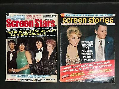 SCREEN STARS LOT OF 2 MAGAZINES FROM 1970's