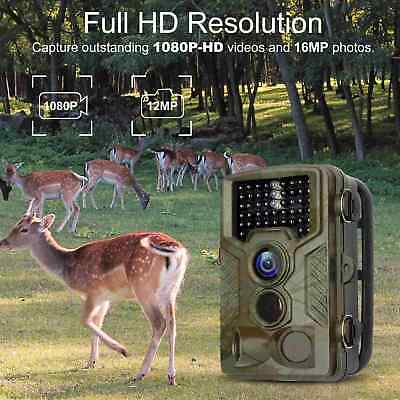 12MP 1080P HD Hunting Trail Camera PIR IR LED Motion Activated Security Wildlife