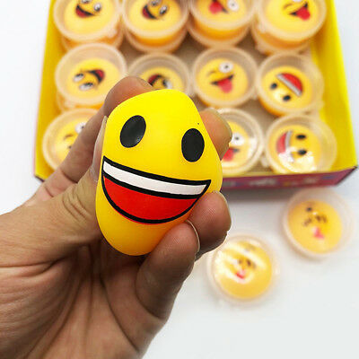 1PC Emoji Expression Smile Face Anti Stress Reliever Ball Squeeze Relief DIY Toy