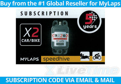 MyLaps X2 Subscription 5-year Renewal Card for Car/Bike Rechargeable Transponder